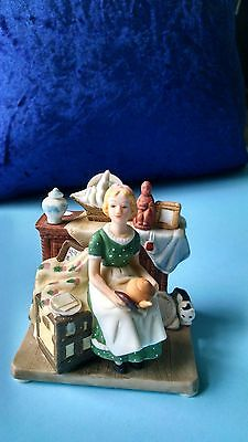 Norman Rockwell Dreams in the Antique Shop Miniature Figurine 1989
