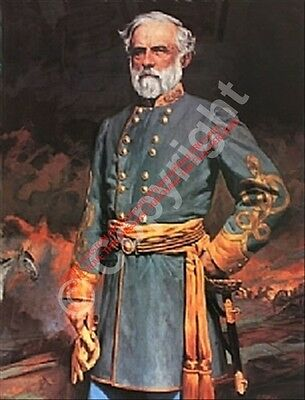Art Civil War Robert E Lee Portrait Robert Wilson