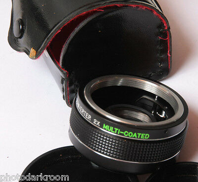 Generic 2x Tele-Converter For Pentax Screw Mount - Glass Good - USED D13