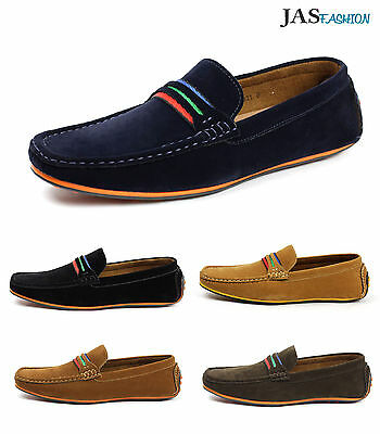 Mens Driving Slip On Casual Shoes Boat Deck Loafers Italian Moccasin Size 6-12