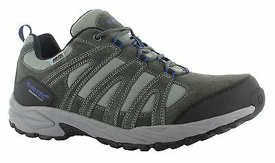 Hi Tec Alto II Mens Walking Suede Leather Lace Up Waterproof Grey Hiking Shoes