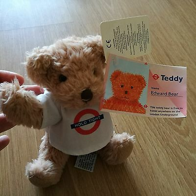 HOLD TIGHT Edward Bear London Underground Teddy bear Tube with Tags