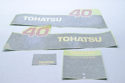 New OEM Tohatsu 40 HP Decal Kit NOS