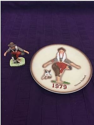Norman Rockwell Leapfrog Collectors Plate and Figurine Dave Grossman 1979