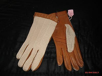 Vintage 1960s leather ladies driving gloves size S-M