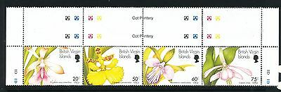 British Virgin Islands 1997 Orchids of the World strip of 4
