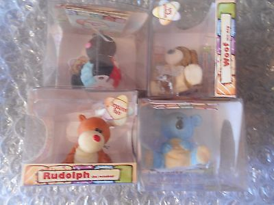 4 x Treasured Pals Collectible Characters - Woof/Sydney/Rudolph/Lucy  GC6