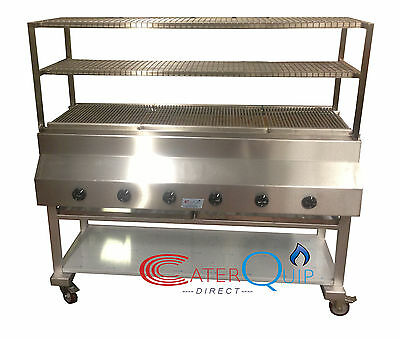 6 Burner Gas Char grill Charcoal Grill  BBQ Grill  Heavy Duty For Commercial Use