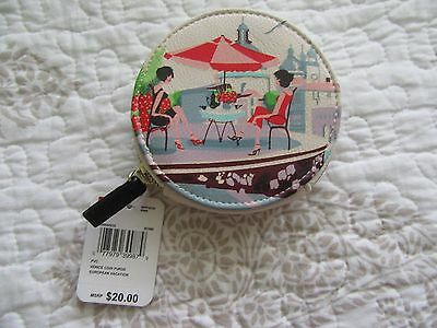 "Mundi Coin Purse, NWT, Picture of Venice Vacation.4"" Round, zip closure"