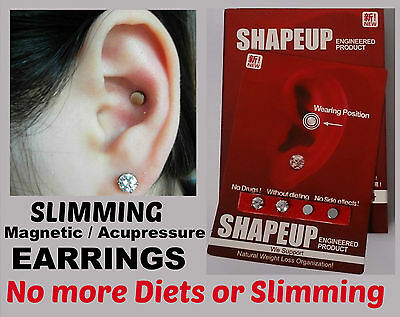 SHAPE-UP Magnetic EARRINGS WEIGHT-LOSS / HEALING - NO MORE DIET / SLIMMING PILLS