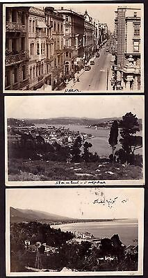 Postcards Turkey 1929 View of Pera etc - Two cards sent from Smyrne. Nice group