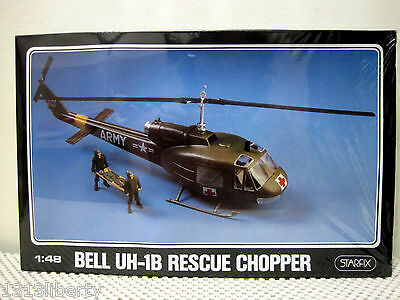 Bell Uh-1B Hueycobra Rescue Helicopter Starfix 1:48 Scale Construction Kit Israe