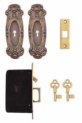 Avalon Keyed Pocket Door Mortise Lock Set