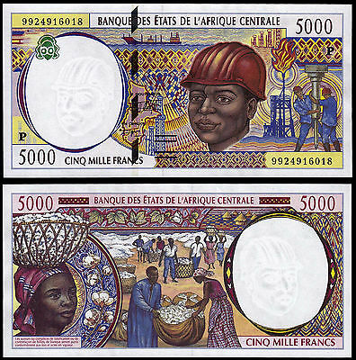 CENTRAL AFRICAN STATES 5000 FRANCS (P604Pe) 1999 CHAD UNC
