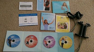 Beachbody workout DVD's 4 discs, multiple workouts and resistance bands
