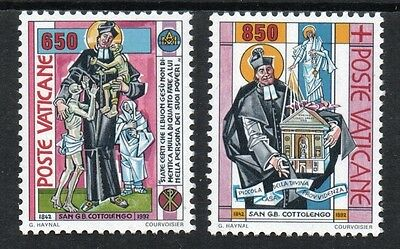 [Vo159]  Vatican City 1992 St. Giuseppe Beneditto Cottolengo Issue MNH