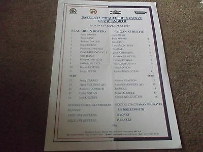 Blackburn Rovers V Wigan Athletic Reserves Premiership League North 3 Sept 2007