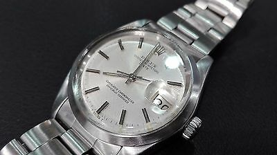 Vintage Rolex Oyster Perpetual Date - 1500 - Steel Men 34 Mm - Automatic