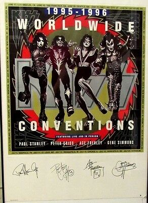 KISS Vintage Plate Signed Poster Gene Simmons Stanley Criss Frehley LE 103/2000