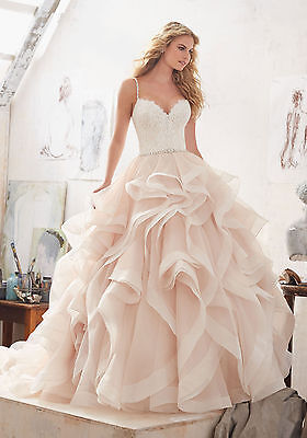 Brand New Mori Lee Marilyn Frosted Lace Bridal Gown Style 8127 free shipping