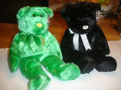 Ty Retired  Beanie   Buddies X2   Asia Pacifics  Ferny And Wattle
