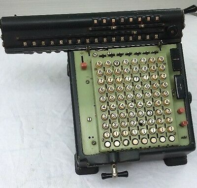 Vintage 1940s Monroe Calculating Co High Speed Adding Machine Calculator