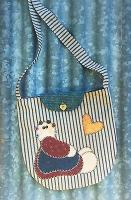 'kitties' The Chook Shed Pattern Co 'bea's Bag' Quilted Bag Kit