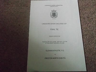 2006 Lancashire Senior Challenge Cup Final Oldham Athletic V Preston North End