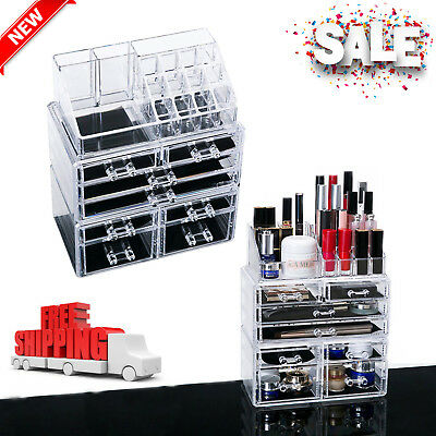 Makeup Organizer Acrylic Cosmetic Storage Drawer and Jewelry Display Case NEW