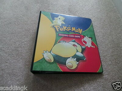 Pokemon Trading Card Album with Selection of Various Cards and Merlin Stickers