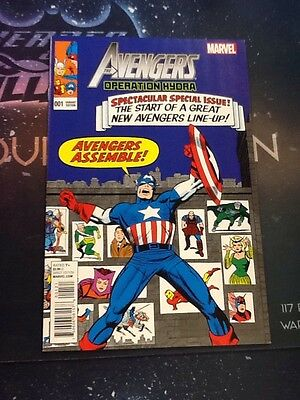 The Avengers: Operation Hydra #1 Marvel comic Variant Cover VF/NM 9.0 (VCA022)