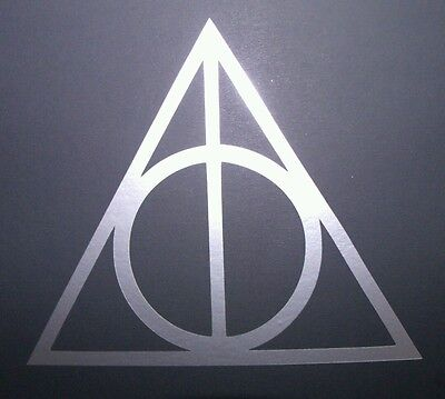 Harry Potter The Deathly Hallows Vinyl Sticker SILVER GLOSS