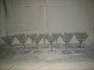 Washington by Fostoria Set of 12 Champagne or Tall Sherbert Crystal Glasses