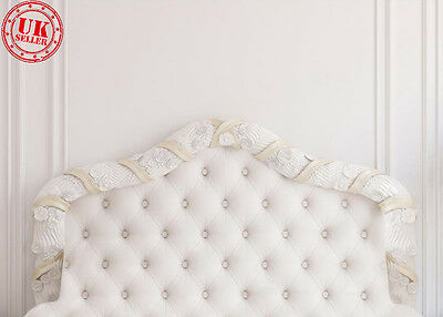 White Bed Headboard Wall Backdrop Background Vinyl Photo Prop 7X5Ft 220X150Cm