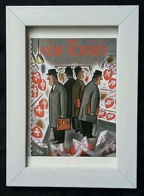 New Yorker magazine framed postcard print 6x4 NEW valentine's day heart love