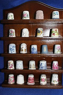 "Set of 23 - Franklin Mint - ""Thimbles of the World's Greatest Porcelain Houses"""