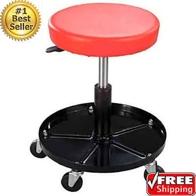 Durable Mechanics Work Stool Garage Adjustable Seat Shop Rolling Home Office NEW