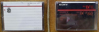 Sony Mini DV Tape New Sealed 60 min x2