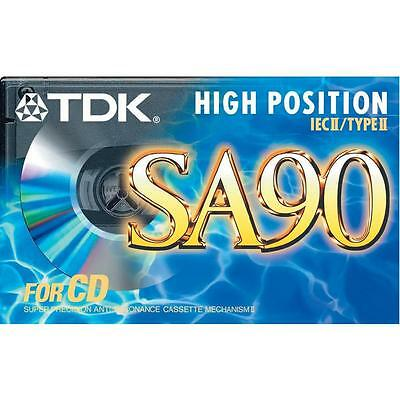 TDK SA90 High Position IECII/Type II Cassette Tape Sealed