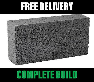 Solid Concrete Blocks 440mmx215mmx100mm 7.3N 100mm - FREE Delivery