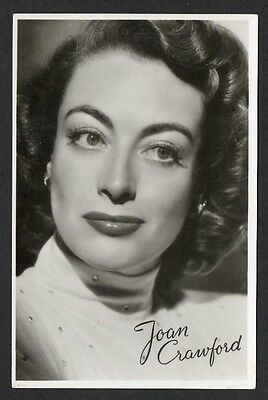 Joan Crawford Anonymous European Series Cinema Film Star Actress Postcard