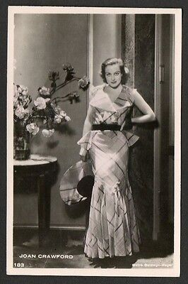 Joan Crawford Anonymous European Series. Film Star Actress Postcard No. 183