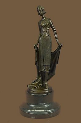 Fine Art Deco Bronze Sculpture Powerful Female Subject signed Milo French SALE