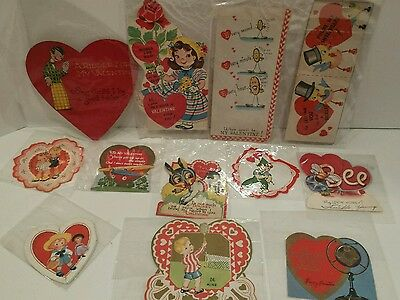 "Lot  Of  12 Vintage  ""valentine's""   Day  Cards"