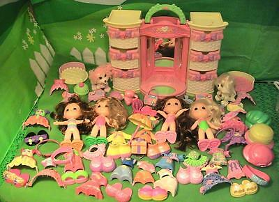 Snap and Style Mega Lot 4 Dolls, 2 Dogs, Outfits, Accessories & Lighted Wardrobe