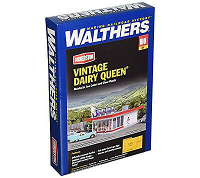 Walthers Cornerstone Ho Scale 1:87 Vintage Dairy Queen Kit 933-3484 Brand New!