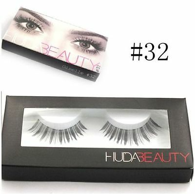 Pestañas postizas de pelo natural negro False eyelashes beauty 32 Nuevo + Regalo