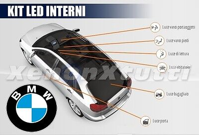 Kit Full Led Interni Bmw Serie 3 E46 Plafoniera Anteriore + Posteriori