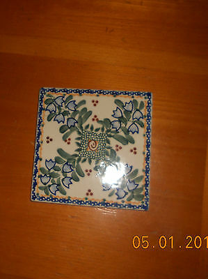 "VENA Hand Made in Poland 4 5/8"" Tile Hand Painted"