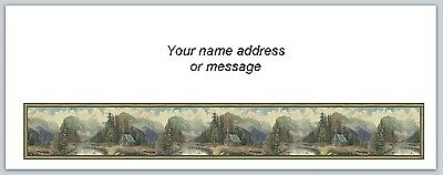 30 Personalized Return Address Labels Mountains & Trees Buy 3 get 1 free (bo886)